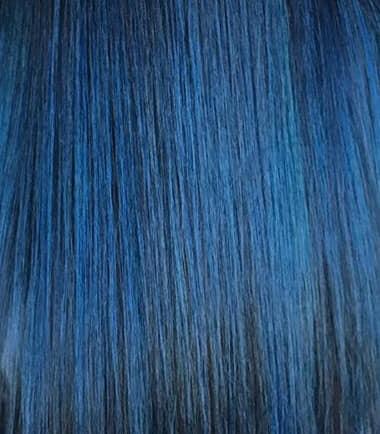 2020 metallic blue hair trend